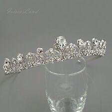 Wedding Headband Clear Austrian Crystal Rhinestone Tiara Crown Bridal Party 9904