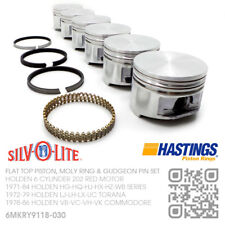 """202+030"""" FLATTOP PISTON/MOLY RINGS 6 CYL 202 MOTOR HOLDEN VB-VC-VH-VK COMMODORE"""