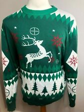 "Ugly Christmas Sweater ""Oh Deer"" LA Police Gear Mens Holiday Sweater XL"