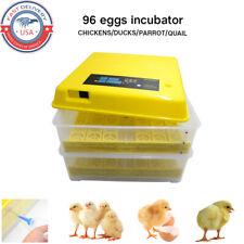 96 Egg Incubator Digital Automatic Hatcher Turning Chicken Temperature Control
