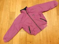 PATAGONIA FLEECE LINED FULL ZIP BOMBER JACKET COLOUR:PINK SIZE WOMENS:10 SMALL