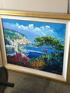 Kerry Hallam Acrylic Painting 1997 artist canvas signed original collectible