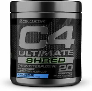 Cellucor C4 ULTIMATE SHRED Fat Burning Pre-Workout 20 Servings ICY BLUE RAZZ