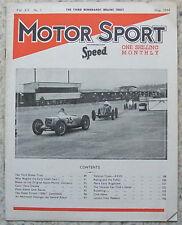 MOTOR SPORT Magazine May 1944 GERARD RILEYS Aston Martin Co FOUR INCH HUTTON