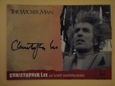 THE WICKER MAN Autograph Card Christopher Lee as Lord Summerisle