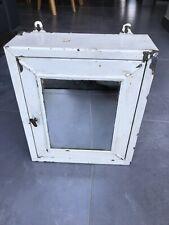 Retro Vintage Metal Mirrored Wall Mounted Cabinet / Medicine Cabinet Bathroom
