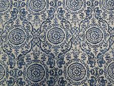 Thibaut Curtain Fabric 'Sansome' 2.2 METRES  Navy Linen Mix ~ Richmond Col