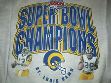 St. Louis Rams Super Bowl XXXIV Champion Ash Gray Sweatshirt Large