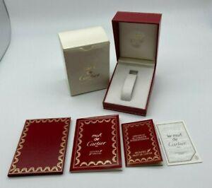 Must de Cartier Watch box case 544 Booklet guarantee rare #566