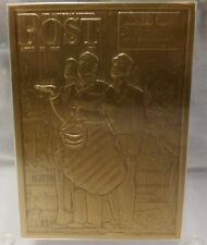"""Pacific Heritage Mint """"Bottom Of The Sixth"""" Saturday Evening Post Bronze Card"""