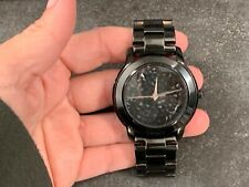 DKNY Women's NY8438 Black Stainless-Steel Quartz Watch with Black Dial