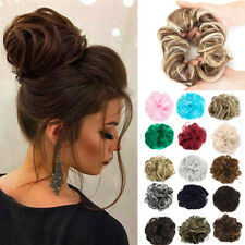 Thick/Thin Messy Bun Scrunchie Hair Extension Ponytail Updo Hair Piece Blonde US