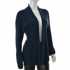 The Masai Womens Open Front long Sleeve Cardigan Sweater Top Knitted Dark Blue L