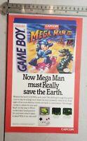 Megaman III Gameboy RARE Print Advertisement