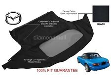 MAZDA MIATA 1989-2005 Premium Convertible Top With Plastic window Black Cabrio