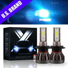 Pair Mini H7 Led Headlight 8000K Ice Blue Conversion Bulbs Kit 9000Lm Cree Light