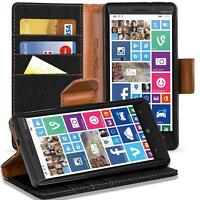 Microsoft Lumia 930 Phone PU Leather Magnetic Flip Case Wallet Denim Cover Slim