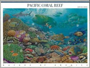 US SCOTT 3831 PANE OF 10 PACIFIC CORAL REEF 37 CENTS FACE MNH 6TH IN SERIES