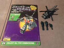 Transformers Vintage G1 Combaticons Vortex 100% Complete w/ Full Cardback