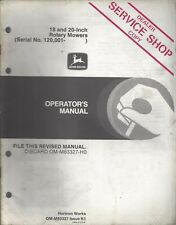 John Deere 18 & 20-Inch Rotary Mowers Operator's Manual Om-M83327 Issue K1 ~F303
