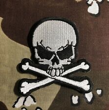 Skull And Crossbones Small Embroidered Patch S021P Biker Harley Tattoo Triumph