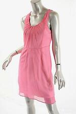 RICHARD CHAI Silk Pink Empire Knee Length Dress w/ Pleat Details Sz 6