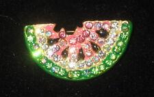 SANDÍA pin CRISTALES Semillas color dorado rosa verde NUEVO FRUTA
