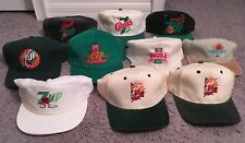 You Pick 1 Vintage 70s 80s 90s Retro 7-Up Soda Advertising Hat (1 per purchase)