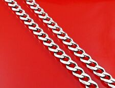 Old 925 Sterling Silver Necklace / Italian 10mm Cuban Men's Chain 61g - 19in