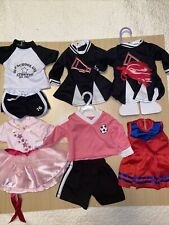 """New listing Lot of 18"""" Doll Clothes Sports Cheer Soccer Ballet"""