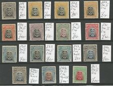 RHODESIA ,BRITISH S.A. CO  SELECTION OF  1913-9 GV PERF 14 MINT ADMIRALS C.£923