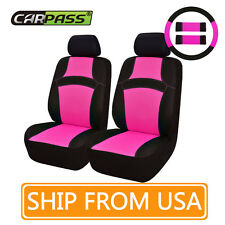 CAR PASS  Breathable Universal Fit  2front Car Seat Covers  pink  color