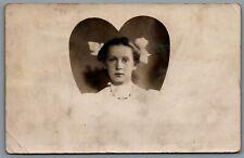 Postcard RPPC Melvina WI c1908 Studio Photo of Girl Series 1902 Stamp Franklin
