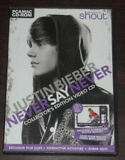 PC & Mac CD-ROM. Justin Bieber Never Say Never Collectors Edition Video CD Shout