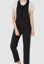 $199 Hurley Women's Black Scoop-Neck One-Piece Jumpsuit Overall Dress Size L