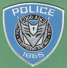 TRANSFORMERS DECEPTICON POLICE SHOULDER PATCH