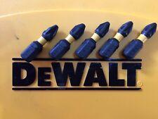 5 Impatto Guidatore DEWALT 25 mm PZ2 Pozi Punta Cacciavite si adatta Makita Bosch Hitachi