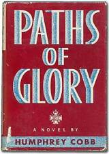 Humphrey Cobb / Paths of Glory Signed 1st Edition 1935