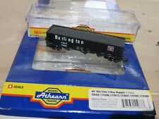 Athearn N scale #11967 Black 40' Rib Side 3 Bay Hopper CB&Q #172506 1 of 5