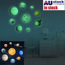 9 Planet Luminous Glow in the Dark Moon Wall Sticker Kids Baby Bedroom Decor AU