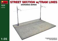 Miniart 36040 Street section w/Tram Line Scale Plastic Model Kit 1/35