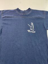 Vintage 80s Whirlpool Corporation T Shirt Appliances Navy Blue White Stitching S