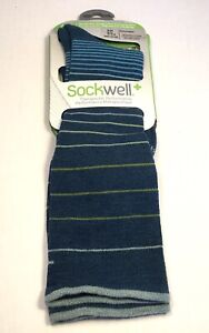 Sockwell Women's Full Stripe Moderate Compression Socks (Small/Medium)
