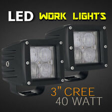 "LED Work Light - PAIR - 3"" 40w CREE Professional Grade 12v/24v - Spot or Flood."