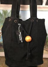 Tote Hobo Leather black Suede New
