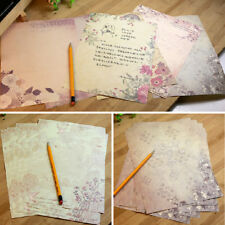 10pcs Romantic Flower Writing Letter Paper European Retro Vintage Stationery
