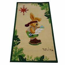 "Teppich ""Felix der Hase Fe2192-02"" Handtuft Kinderpielteppich 80x150 NEU"