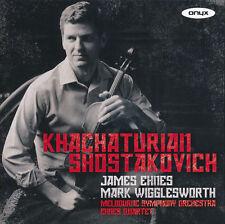 Khachaturian Shostakovich CD NEW James Ehnes Mark Wigglesworth