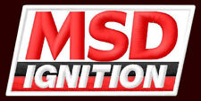 """MSD IGNITION EMBROIDERED PATCH ~3-1/4"""" x 1-3/4"""" HOTROD SPARK TECHNOLOGY RACE"""