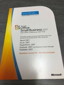 Microsoft Office Small Business 2007 Product Key Card